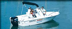 20 ft. center console boat rental in Key West