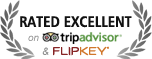Vacation rental badge of excellence from tripadvisor.