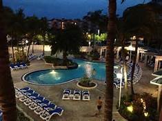 Nightime pool scene at the Hillton Doubletree Grand Key Resort in Key West