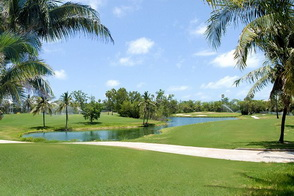 Golf hole located at the Key West Golf course.