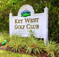 Key West golf club entrance sign