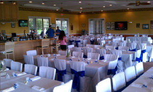 Key West Golf Club banquet room.
