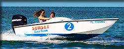 Mini speed boat rental