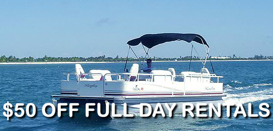 Key West pontoon boat rental