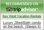 Tripadvisor vacation rental recommendation badge.