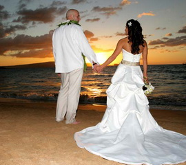 Beach Wedding In Key West At Sunset