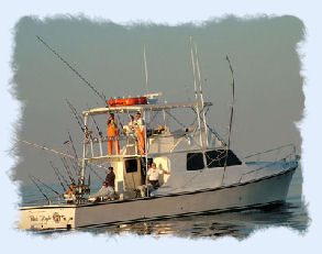 Charter fishing boat.