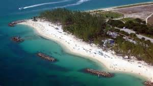 Aerial view of the Fort Zachary Taylor Beach.