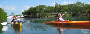 Kids kayaking in Key West.