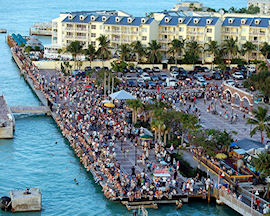 Key West Mallory Square aerial view