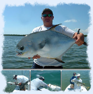 Permit Fish caught on light tackle fishing charter.